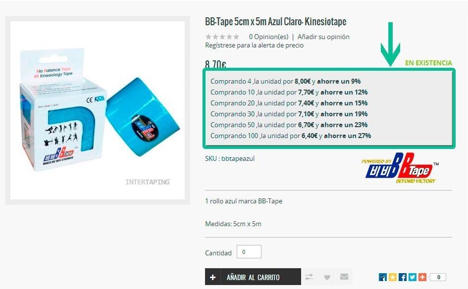 descuentos por cantidad - intertaping.com