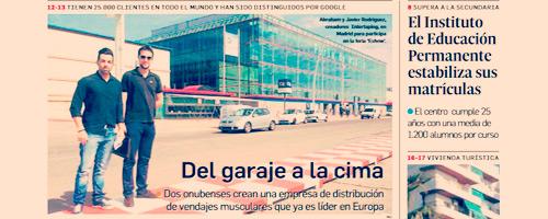 Intertaping.com portada del periodico huelva información